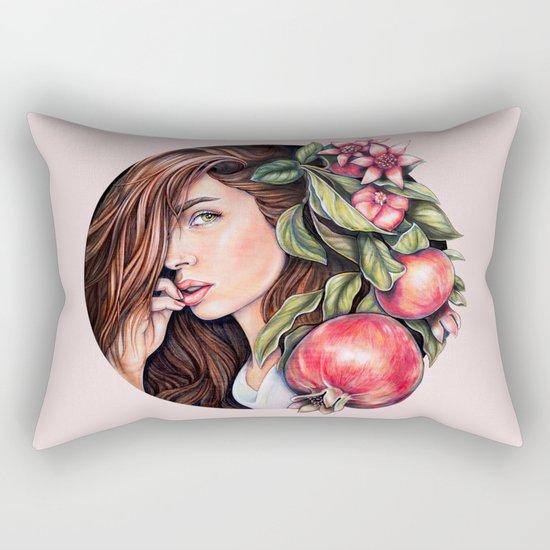 Pomegranate flowers Rectangular Pillow