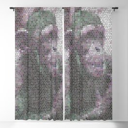 Mosaic Animal - young Chimp Blackout Curtain