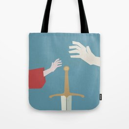 The sword in the stone, minimalist movie poster, animated film, King Arthur, Merlin, retro playbill Tote Bag
