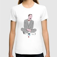 pee wee T-shirts featuring PEE-WEE HERMAN SMURF ICE CREAM by Christian G. Marra