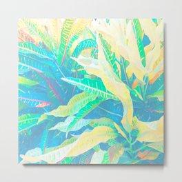 Tropical Croton Leaves 3 Metal Print