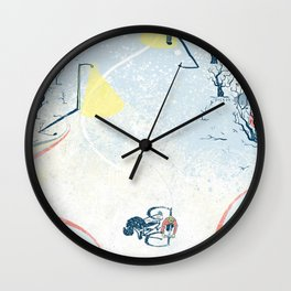 Winter Cycling Wall Clock