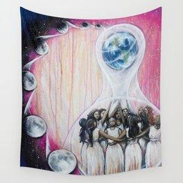Sister Circle // Women Feminism Feminist Sisterhood Goddess Earth Moon Unity Peace Love Power Energy Wall Tapestry