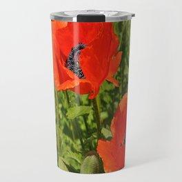 poppies nature Travel Mug