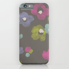 Watercolor Blooms - in Charcoal iPhone 6s Slim Case