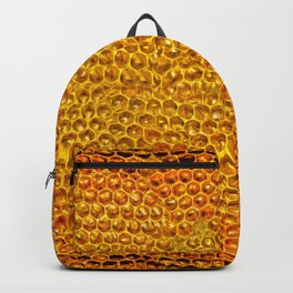 Yellow honey bees comb Backpack