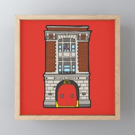 Ghostbusters Fire Station Framed Mini Art Print