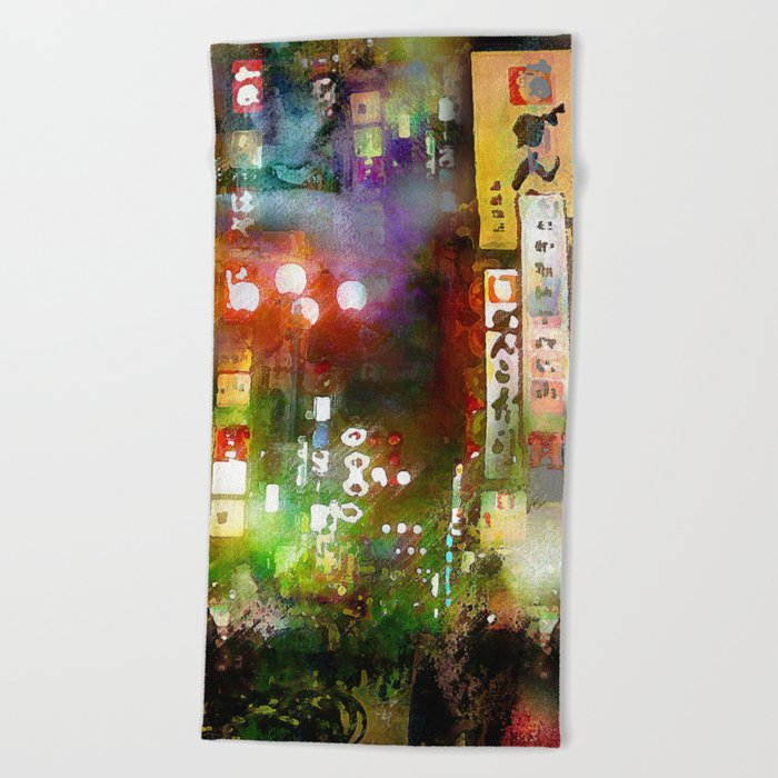 Just one street Beach Towel