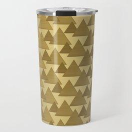 BRUSHED GOLD TRIANGLES Travel Mug