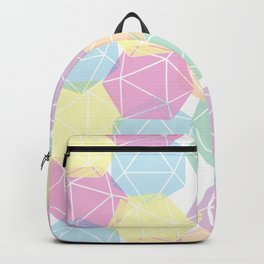 Pastel D20 Pattern Dungeons and Dragons Dice Set Backpack