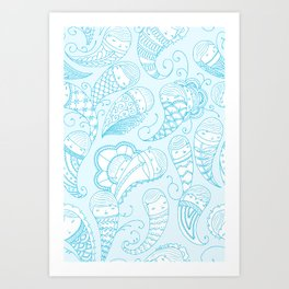 Ghostly Paisley Art Print