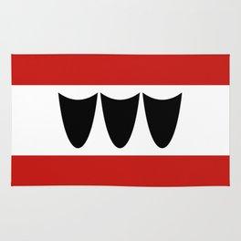 Trebic city flag czech republic country Rug