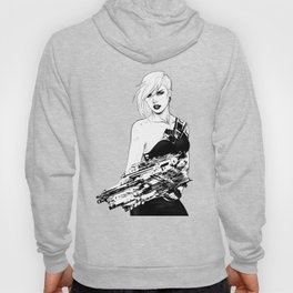 Arbitrary - Badass girl with gun in comic and pop art style Hoody
