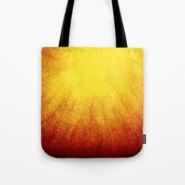 Linear Radial Sunset Tote Bag