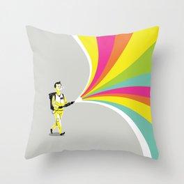 A Murray of Sunshine Throw Pillow