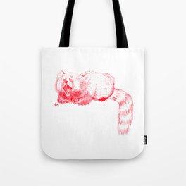 Red Panda Yawning Tote Bag