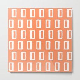 Chad Pattern Orange 22 Metal Print