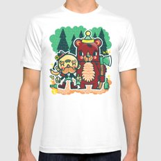 Lumberjack and Friend Mens Fitted Tee SMALL White