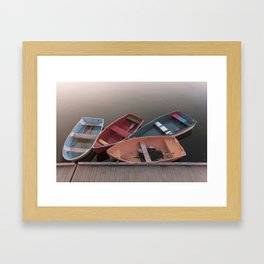 Four Skiffs Framed Art Print