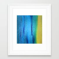turquoise Framed Art Prints featuring Turquoise by Ellie Rose Flynn