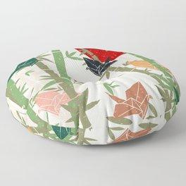 Calming Bamboo and Cranes  Floor Pillow