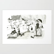 Seurat Sunday Afternoon Art Print