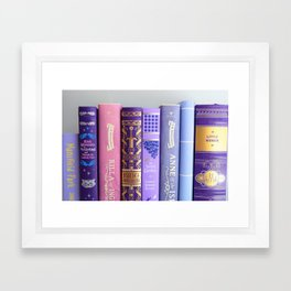 Shelfie in Purple Framed Art Print