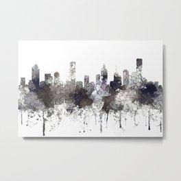 Melbourne, Victoria Australia Skyline - CRISP Metal Print