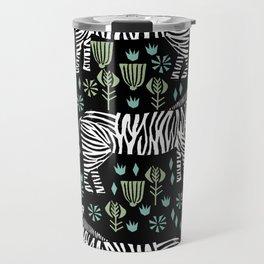 Zebra safari animal nature art screen print by andrea lauren Travel Mug