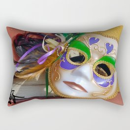 New Orleans Mardi Gras Mask Rectangular Pillow