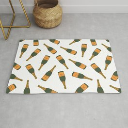 Champagne Bottle Pattern Rug