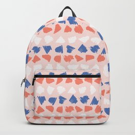 Memphis Style Scribbles Stripes Seamless Pattern Backpack
