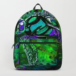 Barry Nehr - Blue Green Dragonfly Backpack