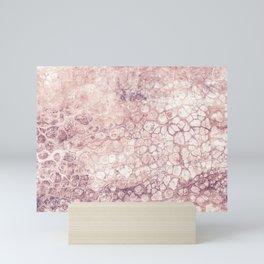 Fluid / Salmon Pink Mini Art Print