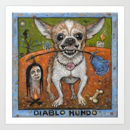 Fifi, Devil Dog Art Print