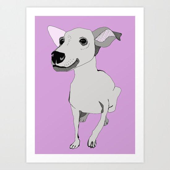 Whippet smile Art Print