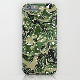 Camo-like liquid shapes iPhone Case