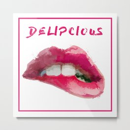 Lip Delipcious Metal Print