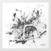 london map Art Prints featuring London map by Nicksman