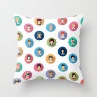 studio ghibli Throw Pillows featuring Studio Ghibli Flat by TubaTOPAL