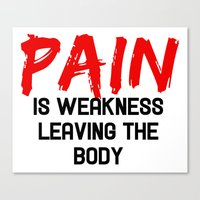 pain Canvas Prints featuring Pain by Spooky Dooky