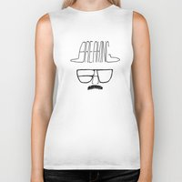 heisenberg Biker Tanks featuring Heisenberg by Zach Terrell