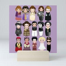 Kokeshis Women in the History Mini Art Print