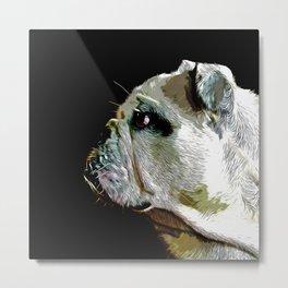 english bulldog dog vector art Metal Print