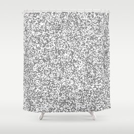Tiny Spots - White and Gray Shower Curtain