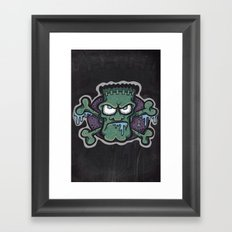 TURN THE CRANK, IT'S TIME FOR FRANK! Framed Art Print