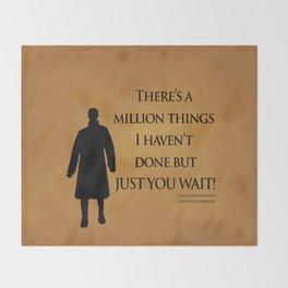 Just You Wait - Alexander Hamilton Design Throw Blanket