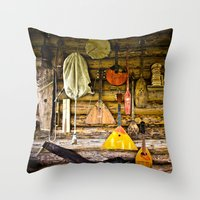 mortal instruments Throw Pillows featuring Folk musical instruments by digital2real