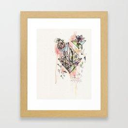 Watercolor Terrariums Framed Art Print