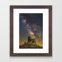 Milky Way over Trona Pinnacles Framed Art Print